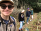 Students on a hiking trail